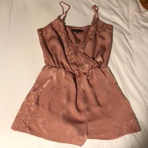 Kendall + Kiley silk rose romper